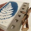 Tiny Handmade Notebook set of 2 - botanical artwork covers