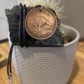 "Australian Penny Necklace. 17"" waxed cord"