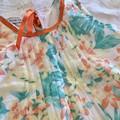 Yellow hibiscus dress