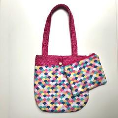 Rainbow clam shells handbag and purse