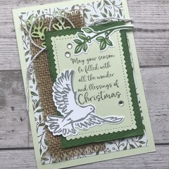 Deluxe Handmade Christmas Card - Dove of Peace