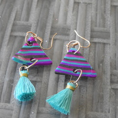 Dangle earrings.
