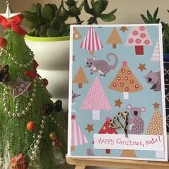 Australian Christmas Handmade Card