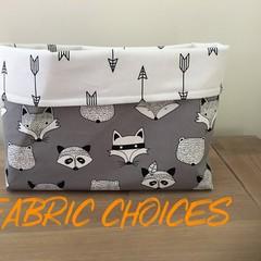 Fabric basket, storage basket, nursery decor, baby nursery, 3 sizes