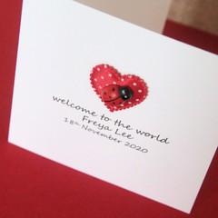 Handmade Baby Card, Personalised Baby Card, Baby Girl, Baby Boy, Gender Neutral