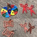 Hand Painted Crafters wooden earrings
