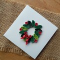 Mini Christmas Card Door Wreath