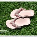 Handmade beaded footwear, shoes, sandals, jandals, thongs, flip flops