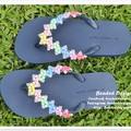 Handmade children's beaded footwear, sandals, jandals, thongs, flip flops
