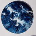"""Waves Set"" 30 x 30cm (12x12"") & 20 x 20cm (8x8"") Wall Art"