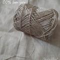Linen crochet bag