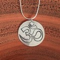 Recycled Silver 'ohm' pendant
