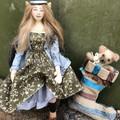 Elf, art doll, cloth soft sculpture, Christmas decor, stocking stuffer, OOAK