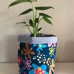 Small fabric planter | Storage basket | Pot cover | FLOWER POWER