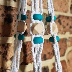 Handmade Macrame Pot Plant Hanger Handmade Beads