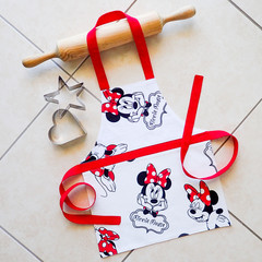 Kids/Toddlers lined kitchen/play apron - Minnie Mouse