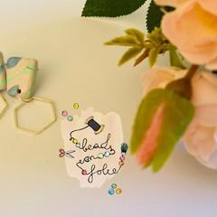 Earrings: Calming sea