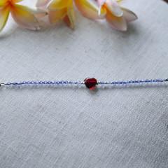 Bernice Purple bracelet with ruby red heart
