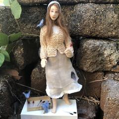 Little Match Girl, Art doll, cloth doll, Christmas story, OOAK soft sculpture