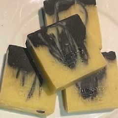 CHARCOAL SANDALWOOD CASTILE SOAP BAR 100g -120g