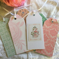 Vintage style gift tags - swing tags - shabby gift tags - assorted set of 10