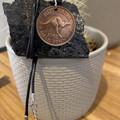 "Australian Half Penny Necklace. 17"" waxed cord"