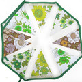 Vintage Retro Cafe / Chocolate Brown and Eco - Green . Lace Floral Flag Bunting