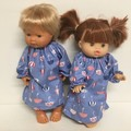 Miniland and Minikane  and Kmart Twin dolls Dolls Nightie to fit 38cm Dolls