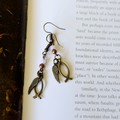 Jocelyn Christian fish and angel wing earrings