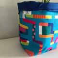Large fabric planter   Storage basket   Pot cover   BRIGHT LINES