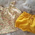 Baby Girls Mustard High Waisted Bloomers / BritchesSize 0000, 000 & 00