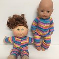 Baby Born and Cabbage Patch Dolls Onesie/ Sleeper to fit 38cm dolls