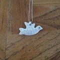 Recycled Silver Dove Necklace