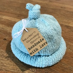Newborn Gumdrop Beanie - Pale Blue/Aqua