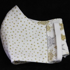 Xmas Fabric/spots Face Mask, Adult/Teen, 7-12yrs, Ready Made