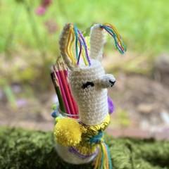 Crochet Llama Cosy Handmade Desk Accessory