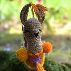 Crochet Llama Jar Cosy Handmade Desk Accessory Teacher's Gift