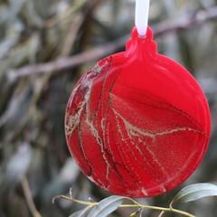 Original Art Christmas Decorations - alcohol ink art on acrylic