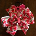 Watermelon Pinwheel Bow