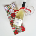 Reusable Christmas Gift Bag - Wine
