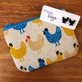 Chicken Black Acrylic Earring & Coin Purse Gift Set