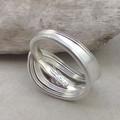 SPOON RING, Sterling Silver, for Women or Men. Custom size.