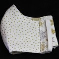 Xmas Fabric/spots Face Mask, 7-12yrs, Ready Made