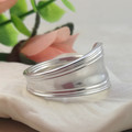 SPOON RING, Sterling Silver, for Women or Men. Custom size.