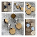Bamboo Rounds- Earrings