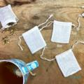 3Pk - Zero waste Tea bags | Reusable Tea bags | Organic Linen Tea Bags