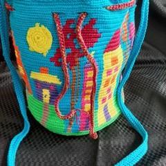 Little Houses,  Mochila Wayuu Handbag