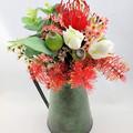 Artificial Australian Native Flower Arrangement in Green Jug - Christmas Gift