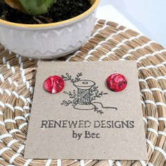 Red Fabric Studs 19mm