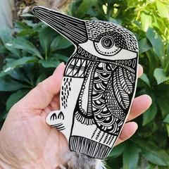 Feather Holder Wall Bird